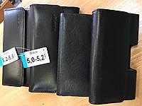 """Чехол-сумочка на пояс универсальная 4""""-4.3"""";4.5""""-4.7""""; 5.0""""-5,5"""",6.0-6.4"""" Для больших смартфонов.Натур.кожа."""