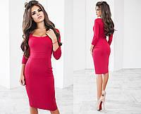 Женское облегающее красное платье 3013 NK