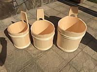 Набор деревянных ведер в сауну (3шт.), фото 1