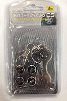Колпачки на ниппель в блистере (4 шт.+ ключ) AUDI-B