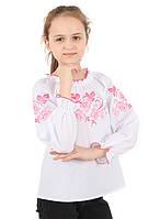 Детская вышитая блузка для девочки. рр. 134-158