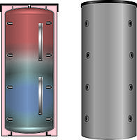 Буферная емкость для отопления Meibes PSX 2000 (мультибуфер, несколько источников тепла) без изоляции