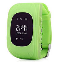 Детские смарт-часы Q50 с GPS трекером Зеленые