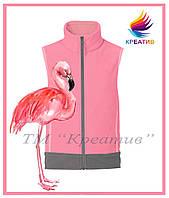 Жилет флисовый розовый фламинго (под заказ от 50 шт.), фото 1