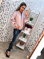 КОФТА МЕЛКАЯ МАШИННАЯ ВЯЗКА И ВЫШИВКА КАЧЕСТВО ЛЮКС. Фабричный Китай. Розовый