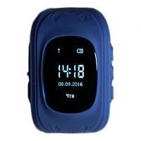 Детские смарт-часы Q50 с GPS трекером Синие, фото 1