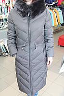 Куртка женская зима VERALBA VQ -45 МК Т. серый
