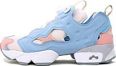 Женские кроссовки Reebok Insta Pump Fury OG Polar Blue Pink Patina EH0975, Рибок Инстапамп
