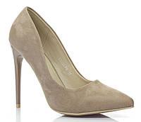 Женские туфли из искусственного замша на шильке