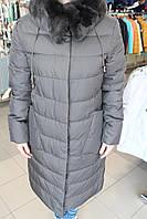 Куртка женская зима VERALBA VQ -73 МК Т. серый