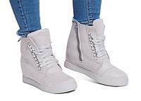 Стильные женские сникерсы,ботинки на молнии и шнуровке  размеры 39, фото 1