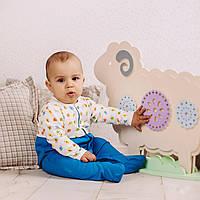 Детский комбинезон для новорожденных бело-синий
