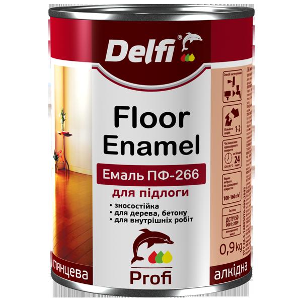 Эмаль алкидная Delfi ПФ-266 для пола, желто-коричневая 0,9 кг