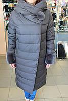Куртка женская зима VERALBA VQ -51 МК Т. серый
