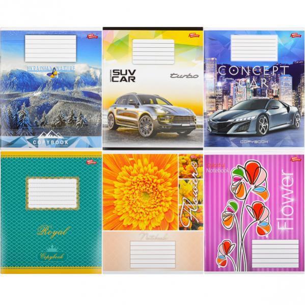 Тетрадь цветная 18 листов, линия «Мрії» «mix» C18Л