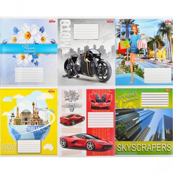 Тетрадь цветная 24 листа, клетка «Мрії» «mix» C24К