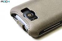ROCK Big City leather case for HTC Sensation XL G21, grey