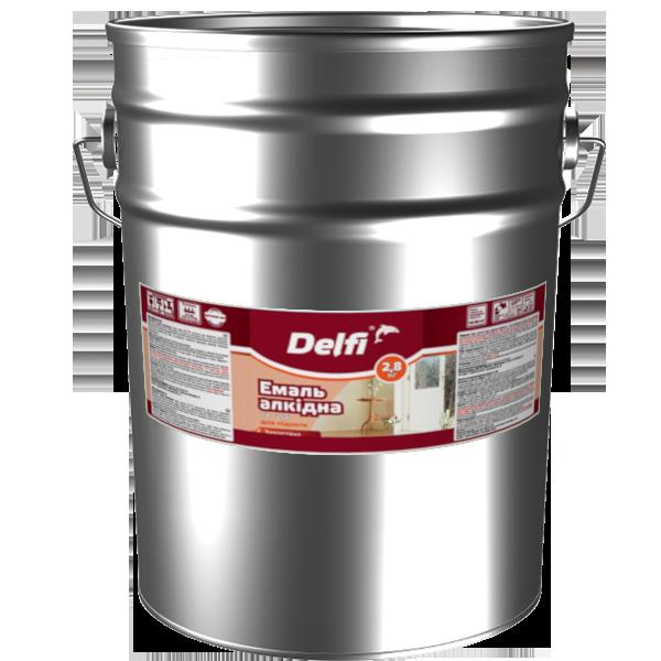 Емаль алкідна Delfi ПФ-266 для підлоги, жовто-коричнева 25 кг