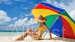 Зонт пляжный, торговый (с углом наклона) 180 см.