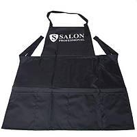 Salon Professional фартук для мастера ногтевого сервиса, черный