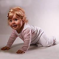 Детский комбинезон для новорожденных бело-розовый