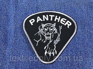 Нашивка Пантера цвет черно белый 95x95мм, фото 2