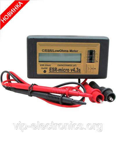 ИЗМЕРИТЕЛЬ ЕМКОСТИ И ESR электролитических конденсаторов ESR-micro v4.3S