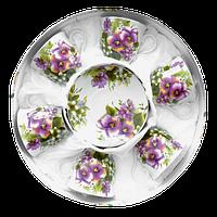 Чайный набор Фиолетовые цветы из 12 предметов в подарочной упаковке Оселя 21-245-004