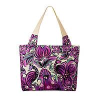 Текстильная сумка XYZ Сиреневый орнамент