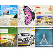 Тетрадь цветная 48 листов, клетка «Мрії» «mix» C48К