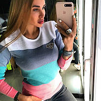 """Женский супер стильный полувер """"Полоска"""" с камнями SWAROVSKI, 4 цвета 2"""