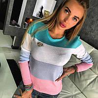 """Женский супер стильный полувер """"Полоска"""" с камнями SWAROVSKI, 4 цвета 3"""