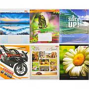 Тетрадь цветная 48 листов, линия «Мрії» «mix» C48Л