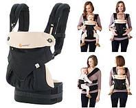 Эрго рюкзак переноска кенгуру для детей Ergobaby Four Position 360 - Black  Camel