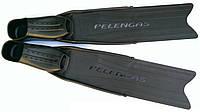 Ласты для подводной охоты Pelengas Black (средняя жёсткость); пластиковые