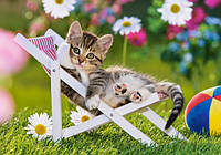 "Детские Пазлы "" Котёнок на стуле"""