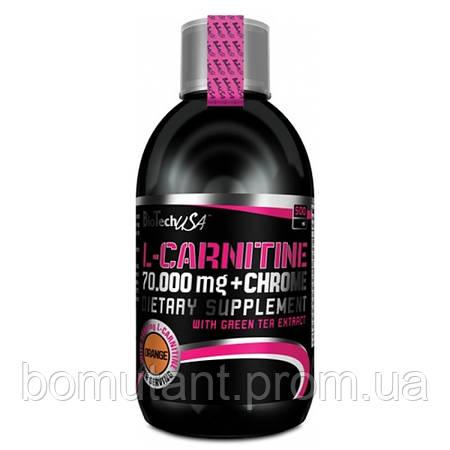 L-Carnitine 70 000 + Chrome 500 ml апельсин BioTech