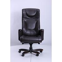 Кресло Галант Элит DT Орех Кожа Люкс комбинированная Темно-коричневая (AMF-ТМ)