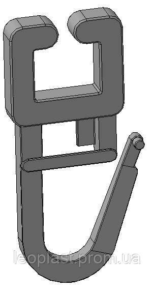 крючок на алюминиевый карниз-защелка