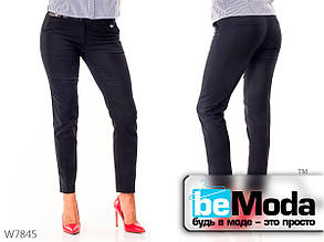 Классические брюки женские Blue со стрелками синие