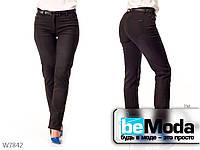 Модные брюки женские Black прямого фасона черные