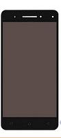 Дисплей Lenovo Vibe S1 леново с тачскрином в сборе,  цвет черный