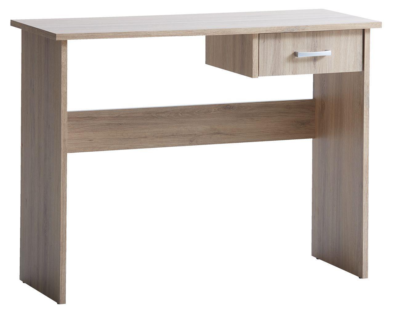 Стол письменный деревянный 100х40х75см дуб