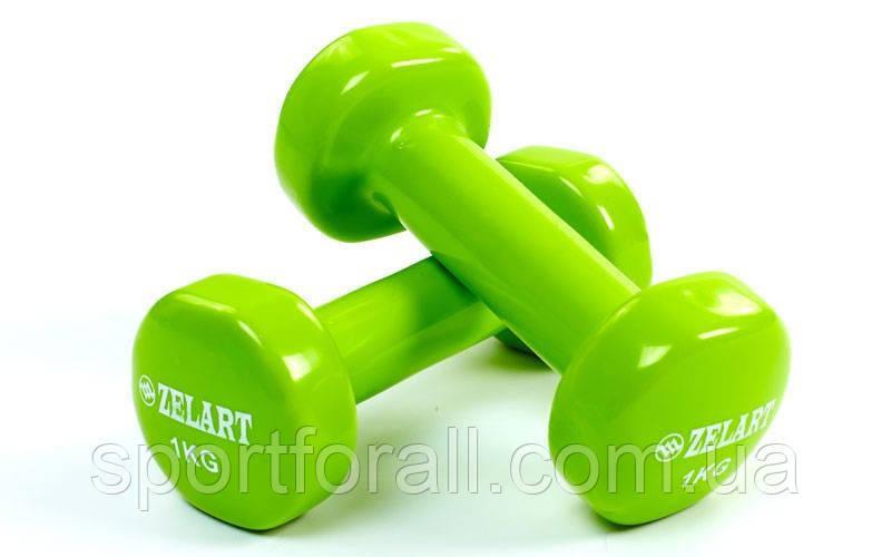 Гантели для фитнеса с виниловым покрытием Beauty TA-5225-1 кг