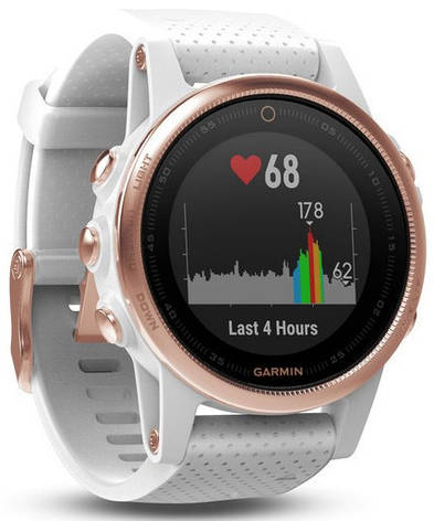 Смарт-годинник Garmin fenix 5S Rose Goldtone Sapphire with White Band 7bc4eae207b36