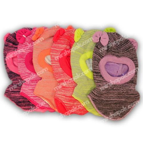 Шапка - шлем для девочки оптом