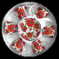 Чайный набор Красный мак из 12 предметов в подарочной упаковке Оселя 21-245-003