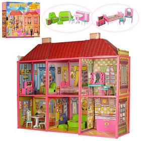 Кукольный дом для Барби 6983. Двухэтажный 6 комнат с мебелью