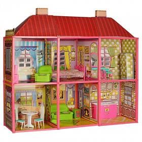 Будиночок для Барбі з меблями 6983. Двоповерховий 6 кімнат з меблями