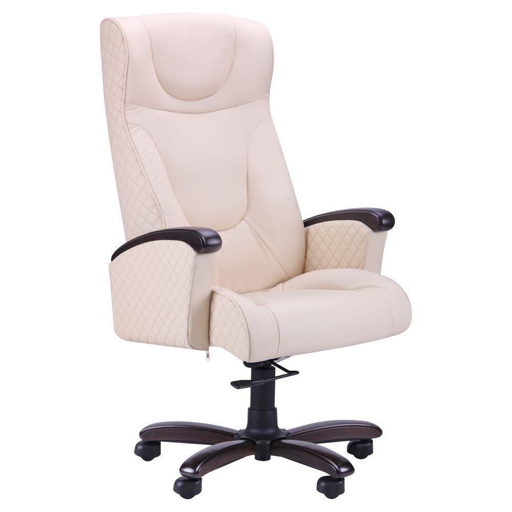 Кресло Галант Элит DT Орех Кожа Люкс комбинированная Ваниль (AMF-ТМ)
